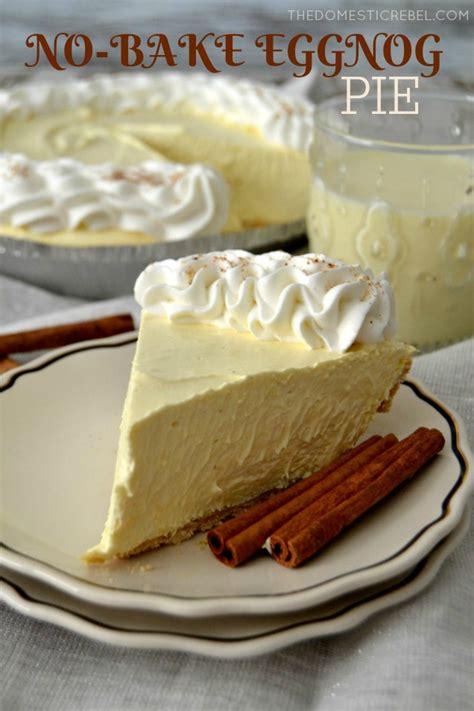 No Bake Eggnog Cream Pie   The Domestic Rebel