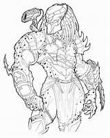 Predator Coloring Alien Vs Adult Drawings Printable Colouring Pred Educativeprintable Cartoon sketch template