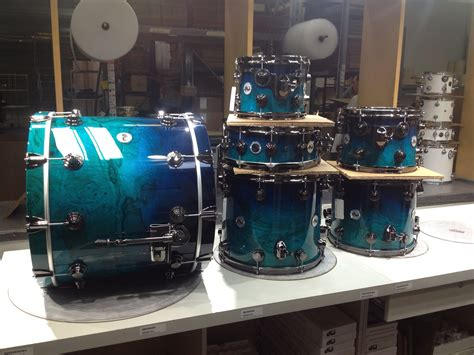 royal blue  transparent electric blue factory drums
