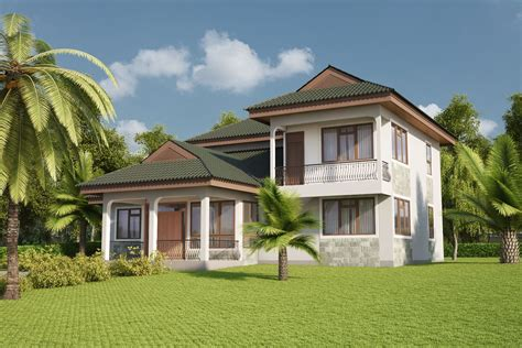 Four Bedrooms Villa Design ID 24402 House Designs