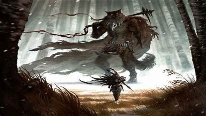 Warrior Savage Fantasy Furry Wallpapers Background Backgrounds
