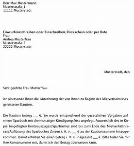 Neuer Mietvertrag Bei Bestehendem Mietvertrag : muster einr kautionsabrechnung durch vermieter zum download ~ Lizthompson.info Haus und Dekorationen
