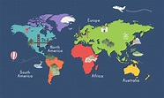 Illustration of world map isolated - Download Free Vectors ...