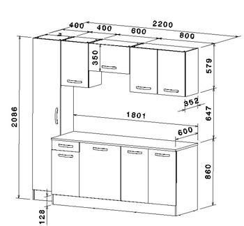 dimensions cuisine meubles de cuisine 7 éléments gris alu et blanc cbc meubles