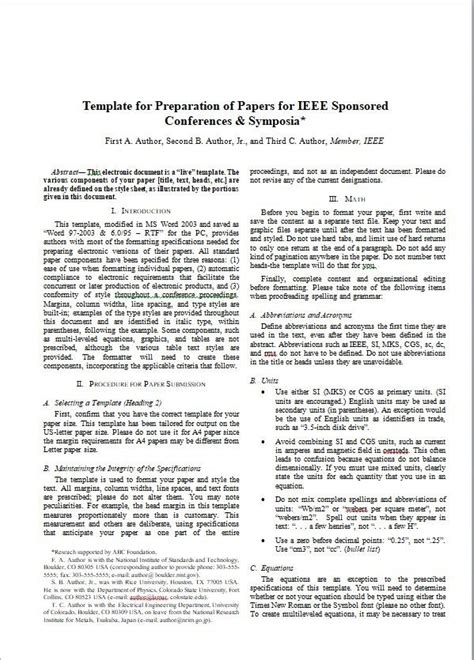 ieee conference template how to present a paper in the ieee format quora