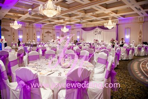 #reception #hall With #theme #colour On #purple And #white