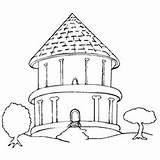 Coloring Printable Colorear Stilt Casas Dibujos Easy Interior Drawing Bungalow Lujosas Round Getcolorings sketch template