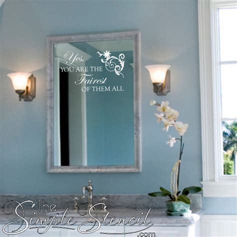 Mirror Decals For Bathrooms by Fairest Of Them All In 2019 Disney Tale And