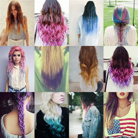 hair colours and styles dip dye beautyfashiongirls 6181