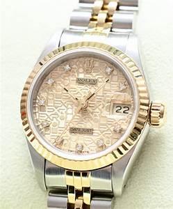 Original Rolex Datejust Damen Stahl Gold Uhr Brillant