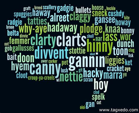 Geordie Words Most Of Which Have Their Origins In Our