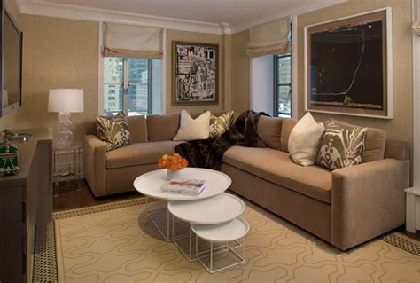 Airy Brown And Cream Living Room Designs Inspired From