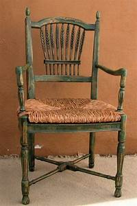 Wheat Back Arm Chair Made Of Beech Wood with Rush Seat ...