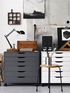 Ikea Büro Rollcontainer : sweet home workspaces pinterest buero arbeitszimmer und wohnen ~ Markanthonyermac.com Haus und Dekorationen