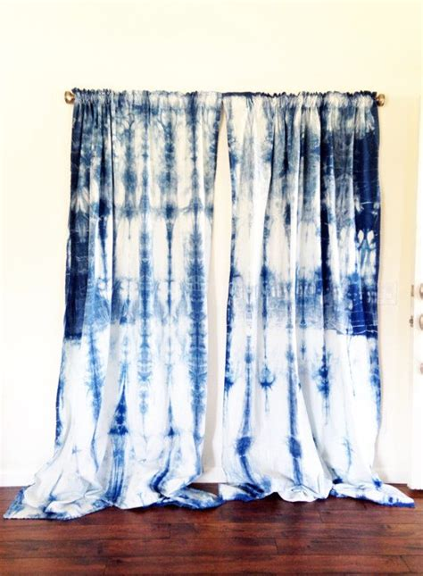 Dying Drapes - shibori curtains colorful house tie d