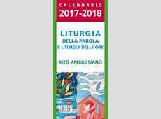 Calendario liturgico 20172018 Liturgia della Parola e