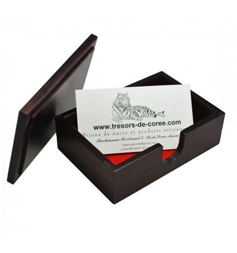 boitier bois et nacre pour rangement cartes de visite