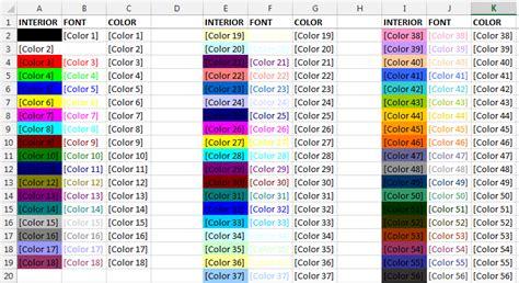 uso de colores en excel  macros exceleinfo