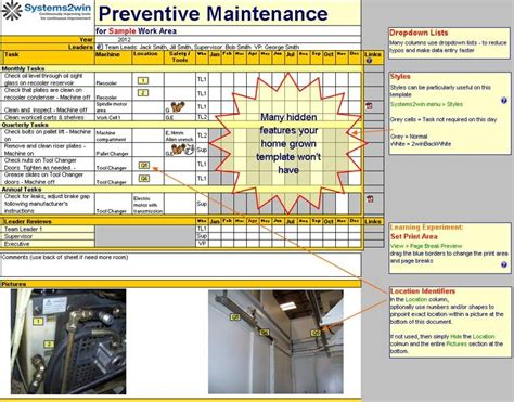 A good preventative maintenance program incorporates a comprehensive backup plan, measures to secure the system against malicious exploits, periodic hardware and software maintenance, and steps to maintain. Preventive Maintenance Checklist Excel template for TPM | Preventive maintenance, Checklist ...