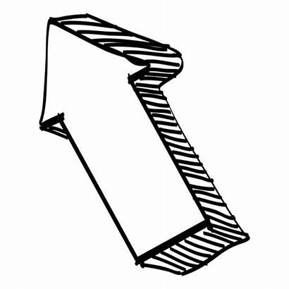 Arrow 3d Drawing Transparent Flecha Cool Svg