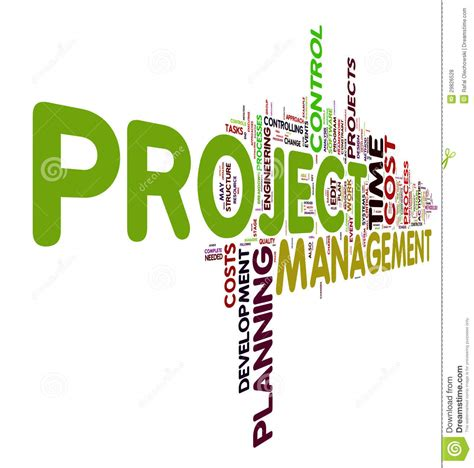 Project Management In Tag Cloud Stock Illustration Image