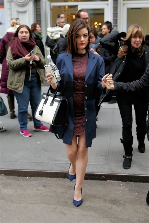 LUCY HALE Leaves Buzzfeed in New York 01/12/2016 – HawtCelebs