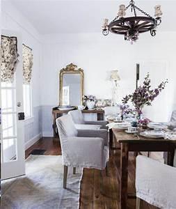 Beautiful Anaglypta Method Austin Shabby Chic Dining Room