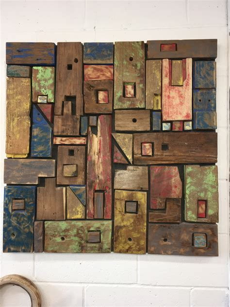 From shiplap to salvaged barn board wood, simple interior wall cladding is making a comeback in home decor, giving rooms a style and texture boost, plus a dose of rugged charm. Eco-Friendly Abstract Colorful Wood Reclaimed Wall Art Sculpture Decor for Sale - Live Edge ...
