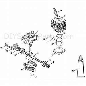 Stihl Fs 40 Brushcutter  Fs40  Parts Diagram  Crankcase