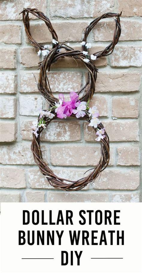 dollar store bunny wreath dollar store crafts