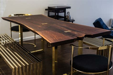 kitchen work table island live edge wood slab tables and furniture re co bklyn