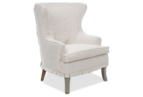 wingback chair slipcover linen linen wing chair fabulous furniture