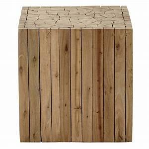 Bout de canape en bois l 35 cm alpin maisons du monde for Tapis enfant avec bout canapé bois