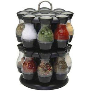 Spinning Spice Rack With 48 Jars by 16 Jar Rotating Spinning Carousel Spice Herb Rack Jars