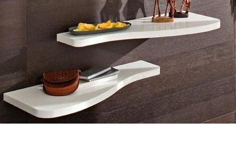 mensole laccate bianche mensola sagomata per ingresso design moderno na242