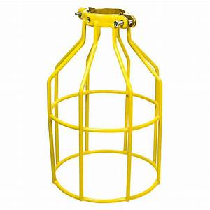 Metal lamp guard yellow replacement cage