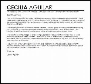 sample cover letter for a cleaner job cover letters With cover letter for house cleaning job