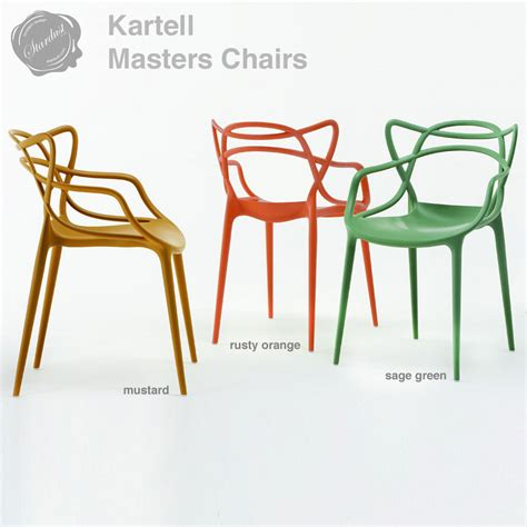 kartell modern masters chair by philippe starck stardust
