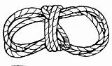 Rope Template Jump Cowboy sketch template