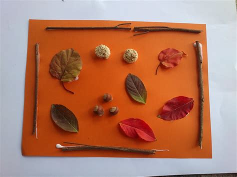 fall nature collage fun family crafts