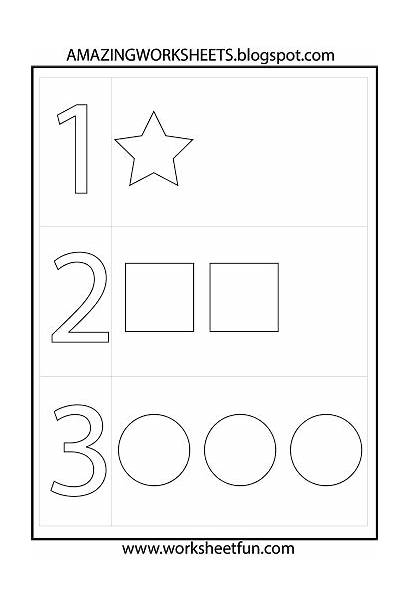 Preschool Numbers Worksheets Printable Learning Shapes Math