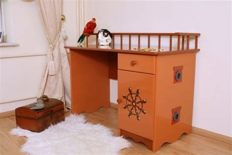 bureau pirate bureau enfant pirate marron