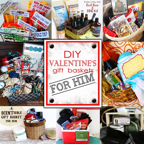 From exercise bikes to coffee makers, skincare regimens and more. DIY Valentine's Day Gift Baskets- For Him! - Darling Doodles
