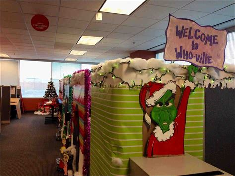 decorate work cubicle  christmas www