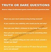 List of Truth or Dare Questions | Truth or dare questions ...