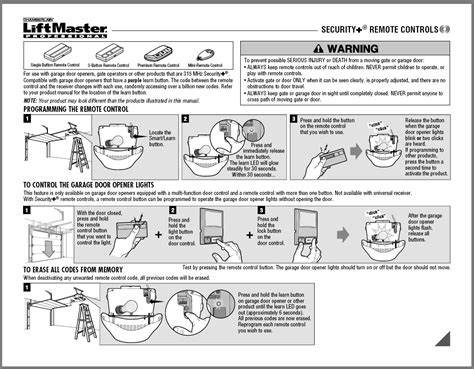liftmaster garage door opener manual reprogram liftmaster garage door opener remote home