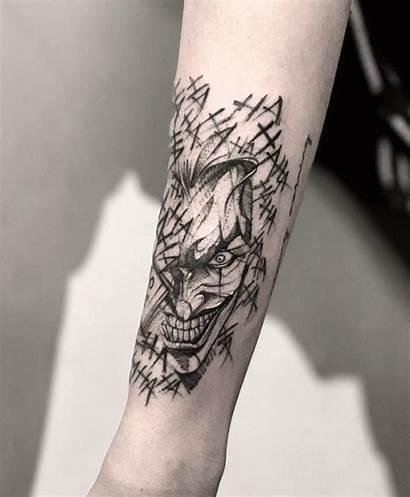 Tattoo Joker Tattoos Bk Tattooer Tricep Done