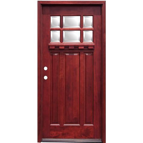 home depot craftsman door pacific entries 36 in x 80 in craftsman 6 lite stained