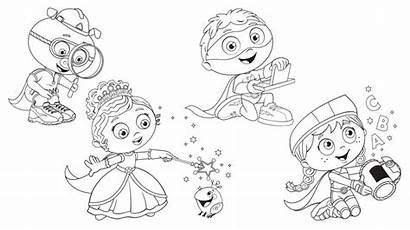 Super Why Coloring Pages Bestcoloringpagesforkids