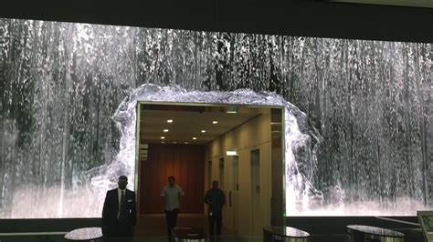 salesforce unveils amazing lobby video wall display  sf